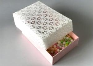 和紙素材(OMOTEWASHI)を化粧箱の蓋として活用