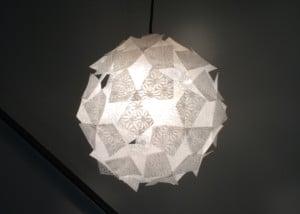 和紙素材(OMOTEWASHI)を使ったライトシェード
