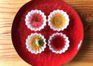 「和紙の器」オモテワシケースを器にした水菓子の盛り付け