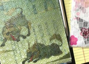 印刷した和紙素材(OMOTEWASHI)のクリアフォルダ