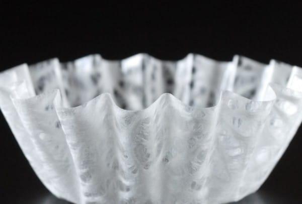 「和紙の器」オモテワシケース 雪白 麻の葉